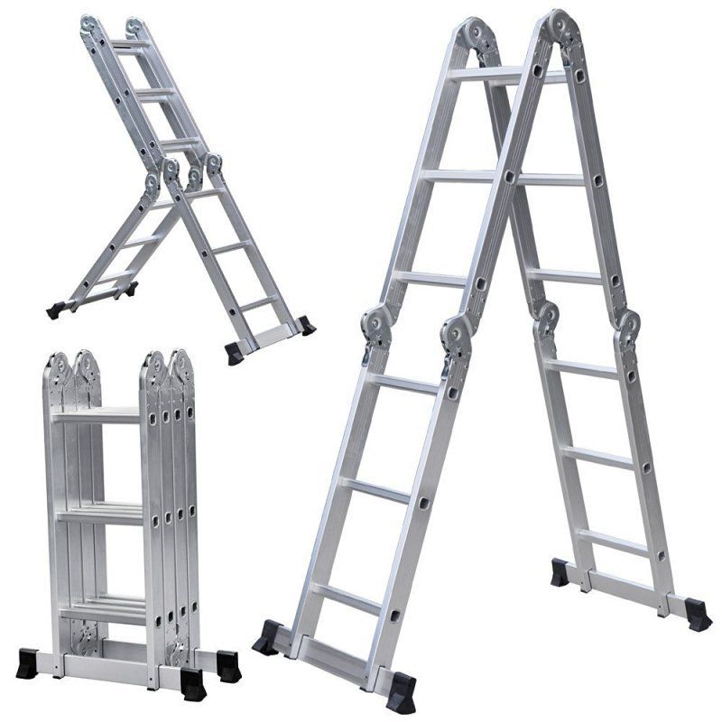 6ft Multi Purpose Step Ladders : Ft multi purpose position ladder heavy duty scaffold