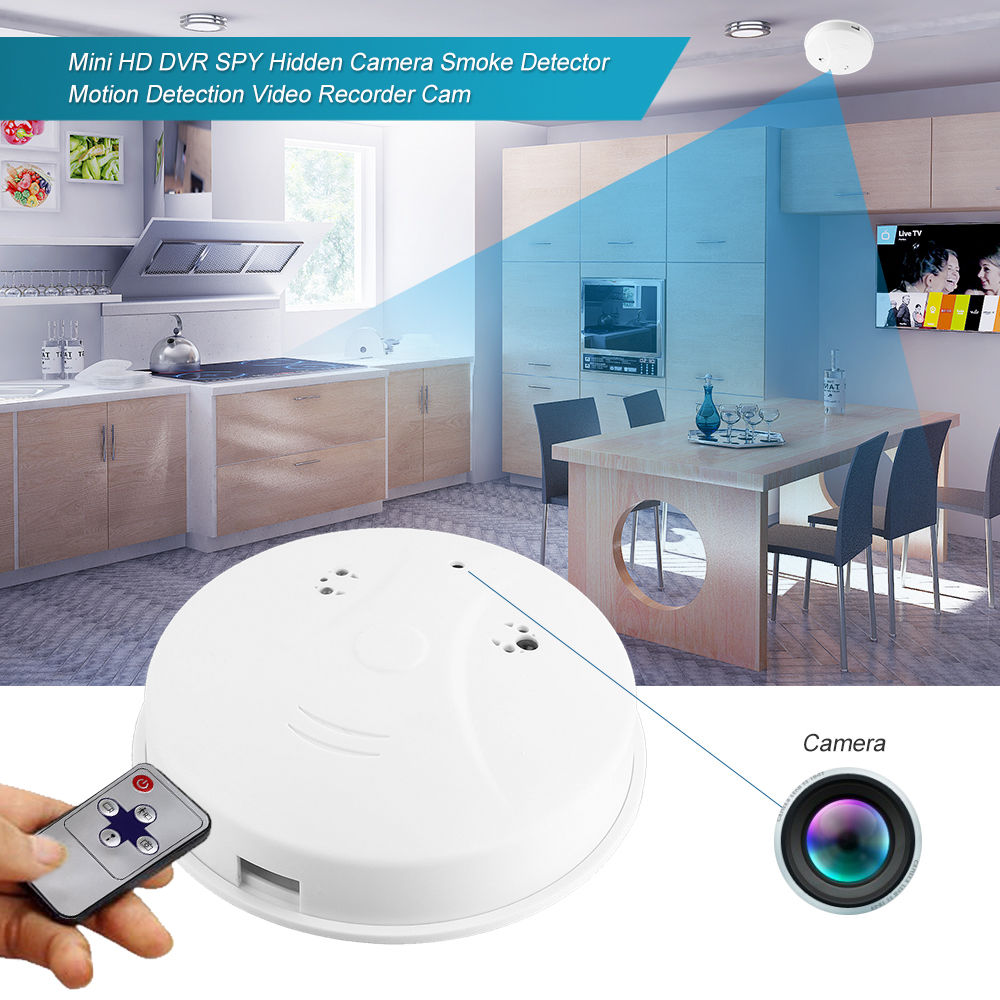 Mini Hd Wifi Hidden Camera Smoke Detector Motion Detect