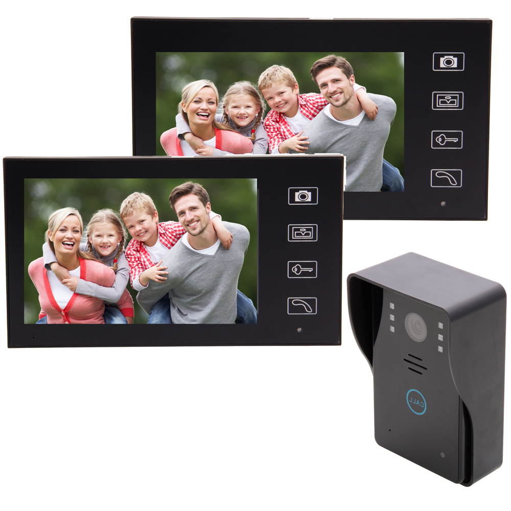 Hands free video door phone 3. This door station adopt high-definition CCD  camera, making a better effect for image 4. Monitoring outside by pressing  the ...