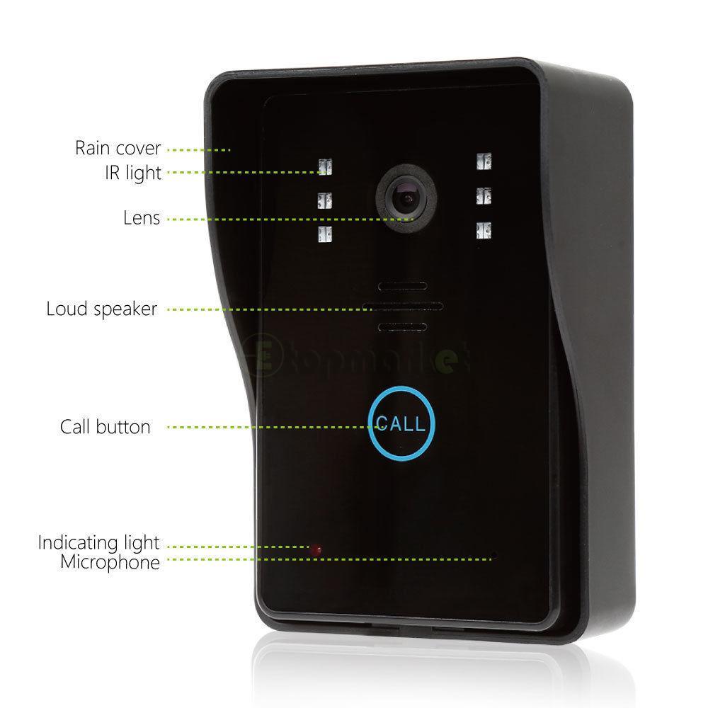 Wireless 7 Quot Color Video Door Phone Doorbell Home Intercom
