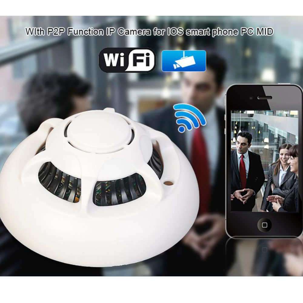 wireless digital hd camcorder wifi p2p ip camera spy smoke detector motion dvr ebay. Black Bedroom Furniture Sets. Home Design Ideas