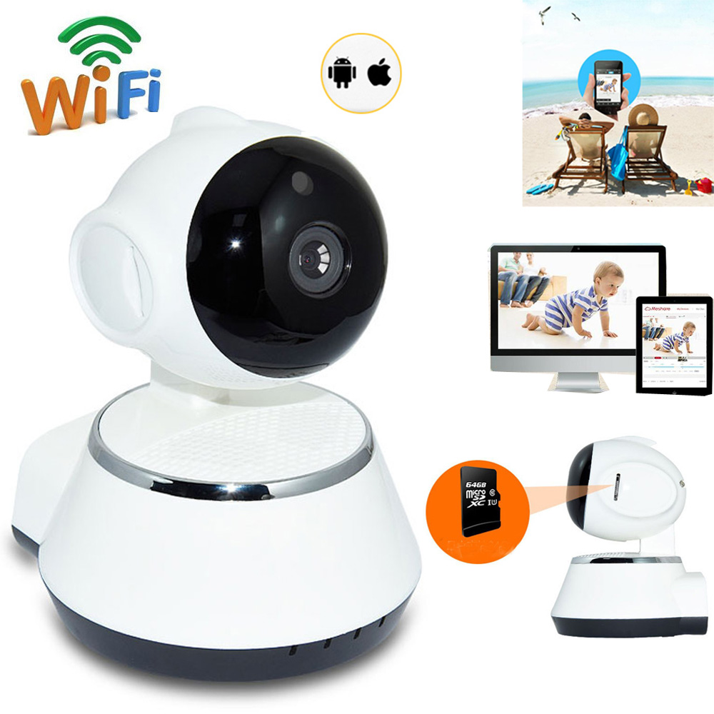 wireless 720p pan tilt security baby monitor camera night vision wifi ip webcam ebay. Black Bedroom Furniture Sets. Home Design Ideas