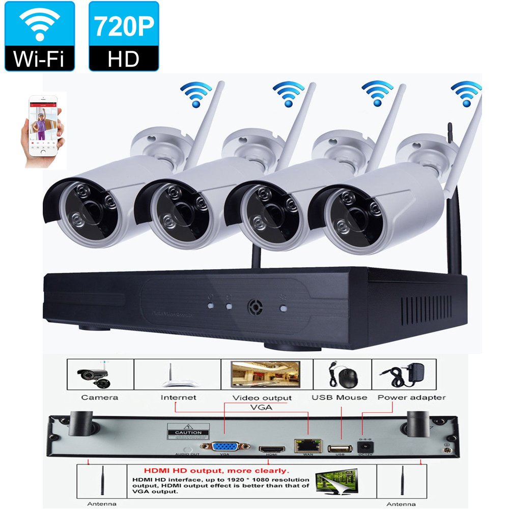 8ch Wireless Nvr Outdoor Ir Cut Ip Wifi Cameras Home
