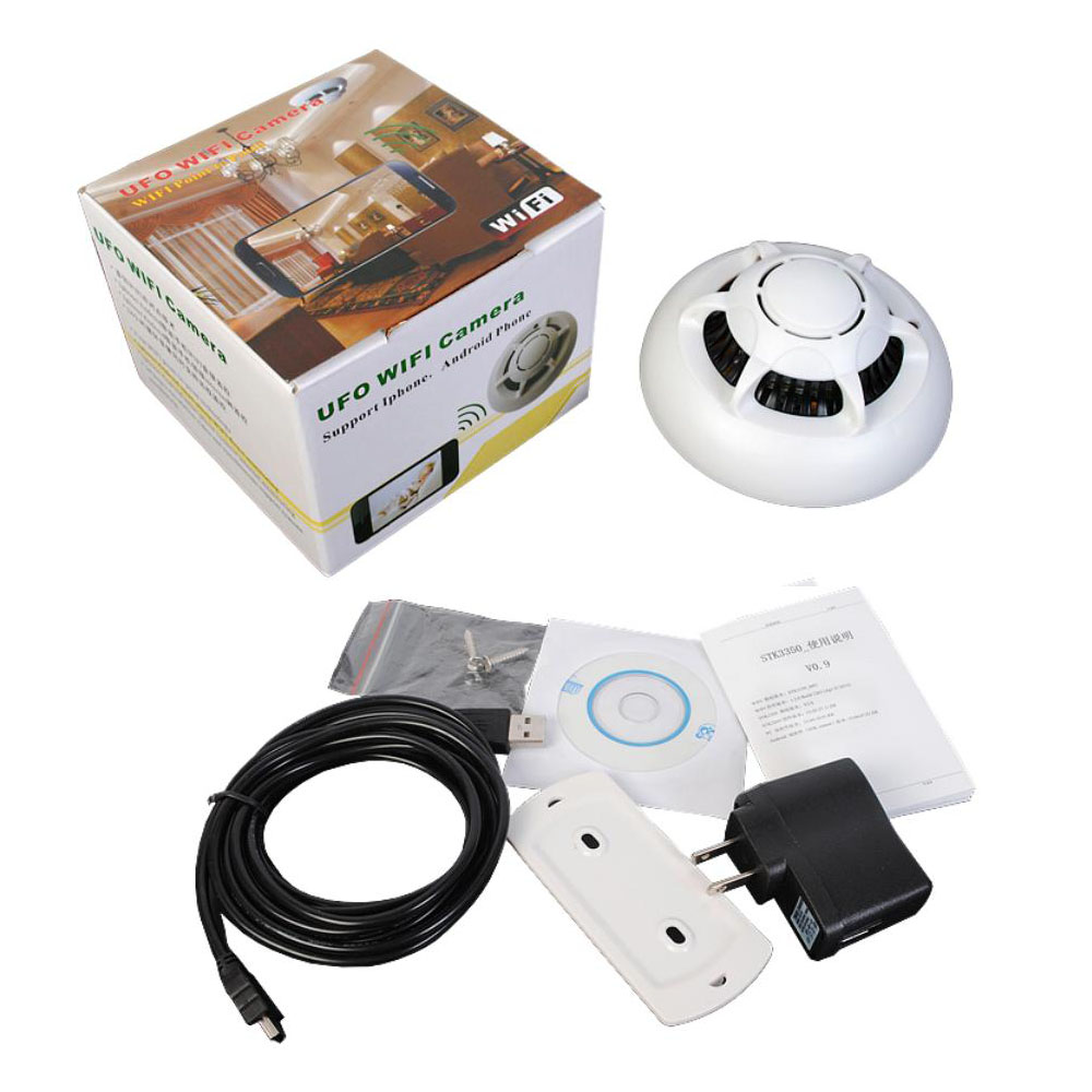 wireless digital hd camcorder wifi p2p ip camera spy smoke detector motion dv. Black Bedroom Furniture Sets. Home Design Ideas