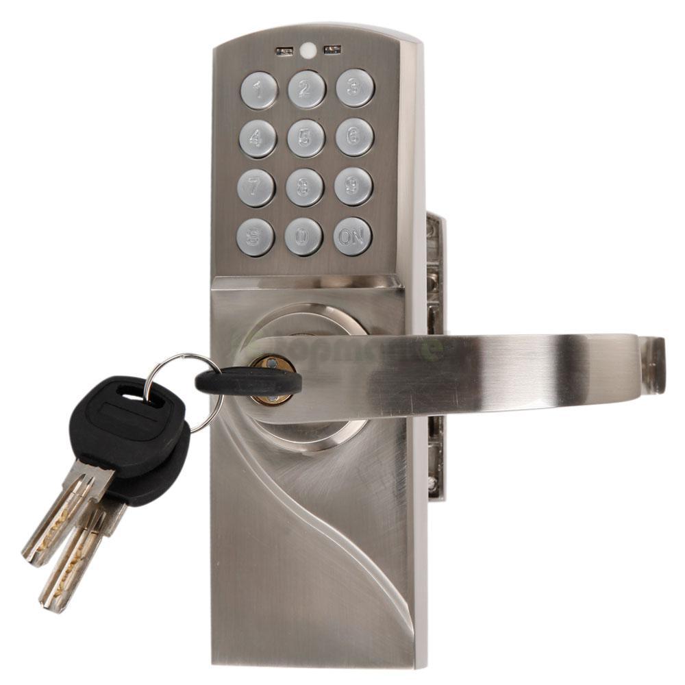 right left handle digital electronic code keyless keypad door entry lock kit. Black Bedroom Furniture Sets. Home Design Ideas