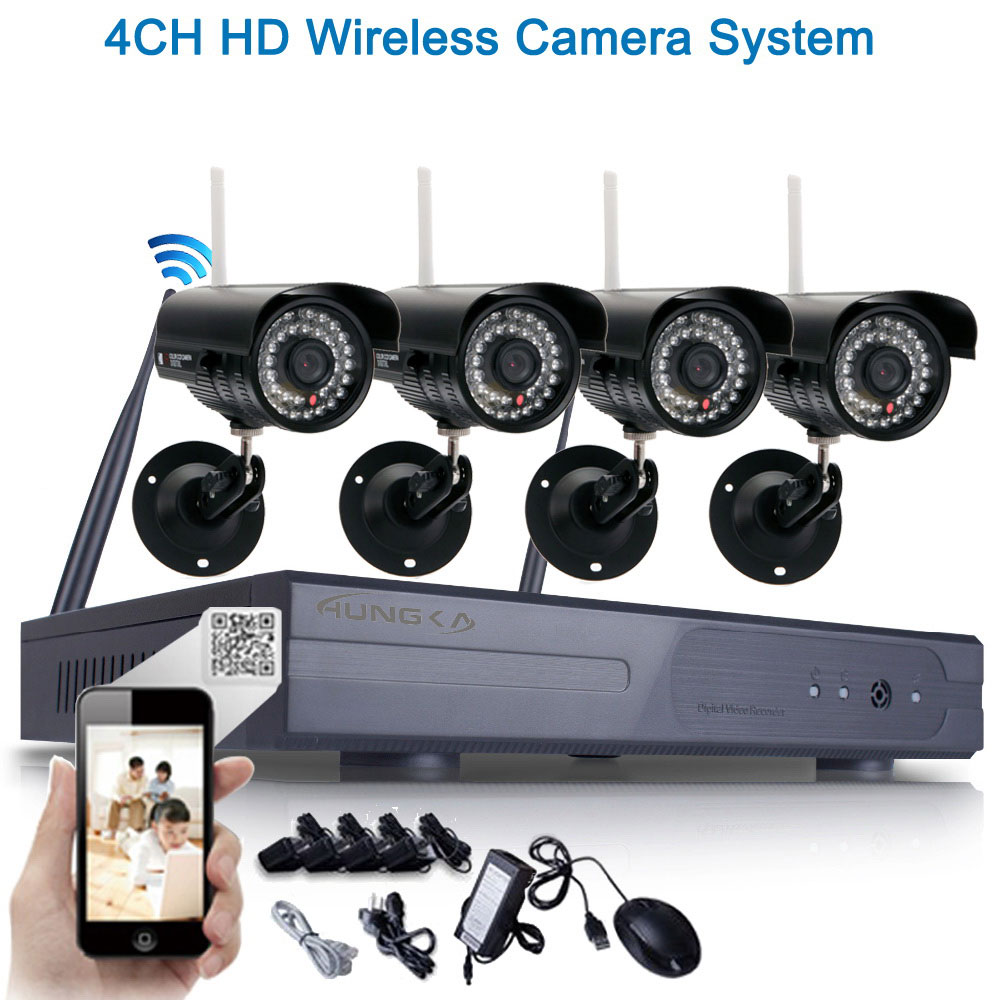 8ch 4pcs hd 720p wifi wireless ip camera system nvr. Black Bedroom Furniture Sets. Home Design Ideas