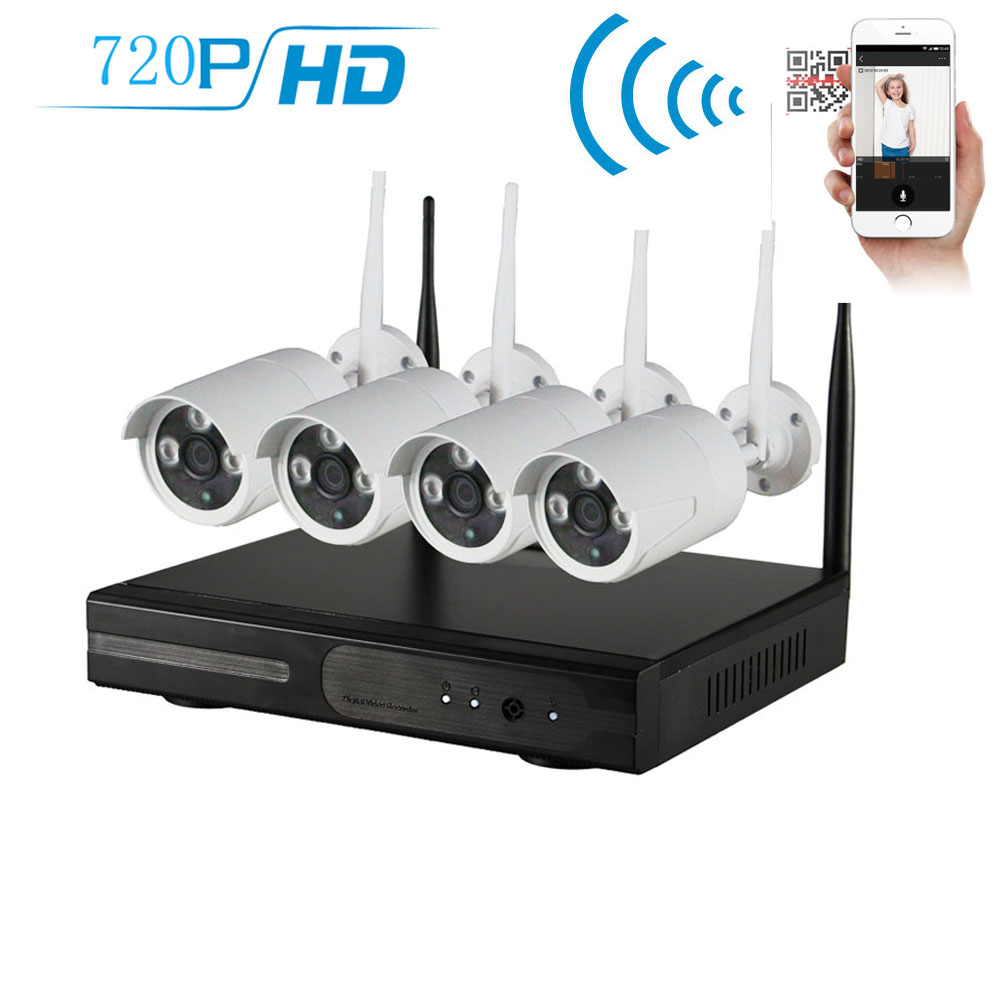 wireless 4ch 720p nvr dvr home cctv security system indoor. Black Bedroom Furniture Sets. Home Design Ideas