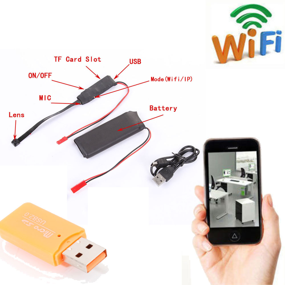 wireless wifi hidden spy camera module video dvr dv record diy f android iphone ebay. Black Bedroom Furniture Sets. Home Design Ideas
