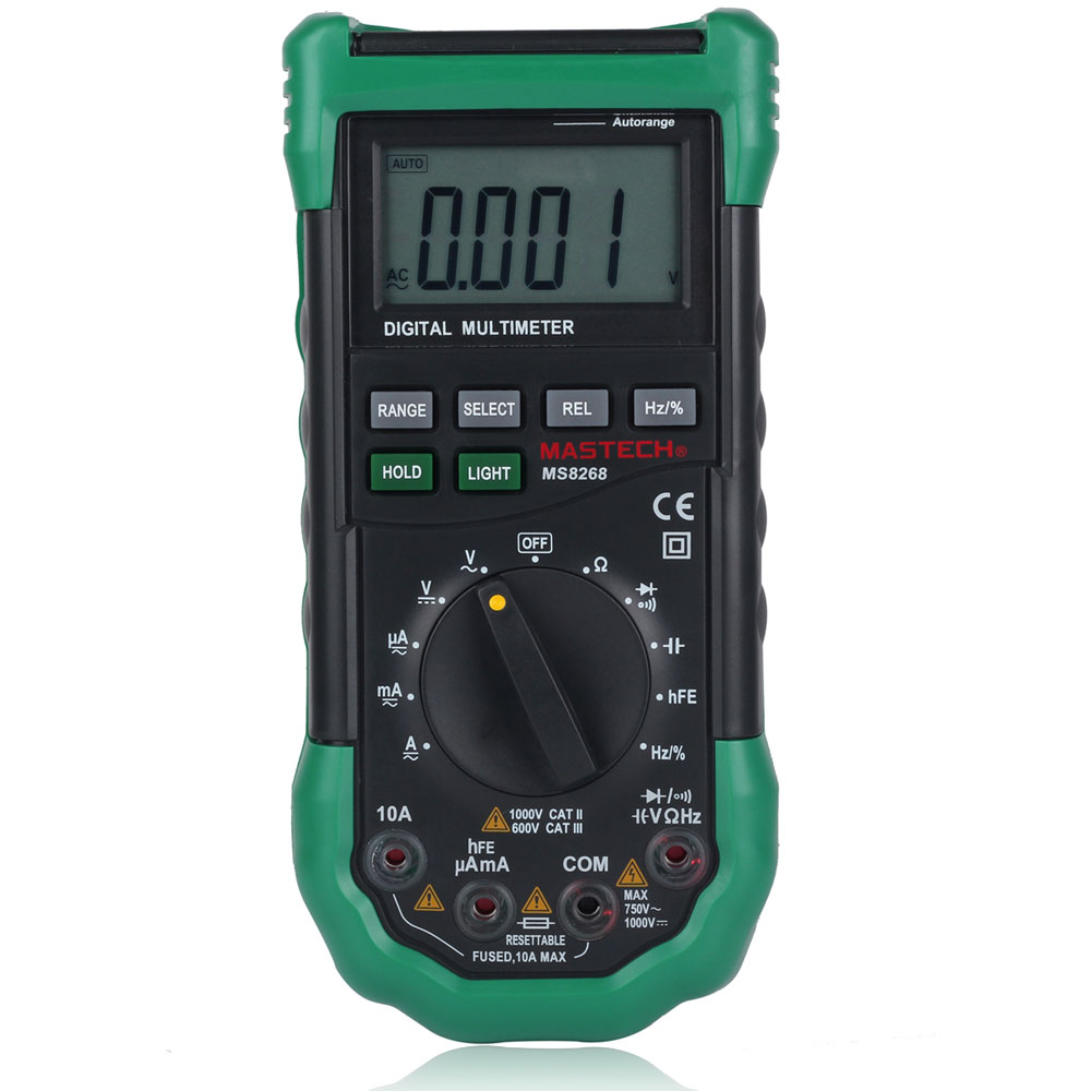 Dc Voltage Tester : Mastech ms digital auto range multimeter ac dc voltage