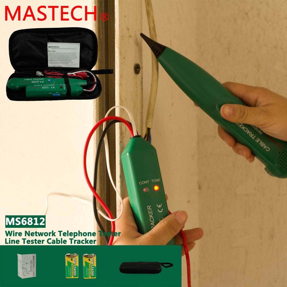 Electrical Line Tester : Mastech ms network telephone electric wire line cable