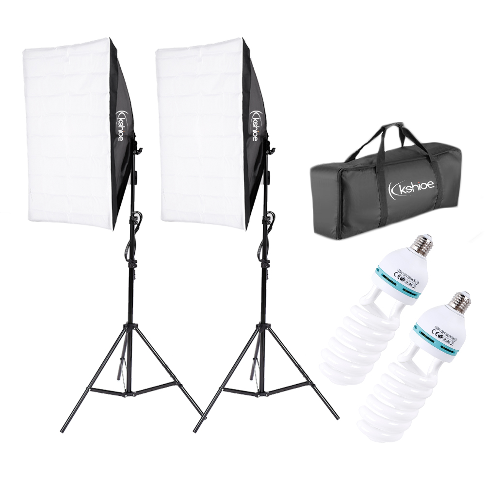 2* Photography Lighting Softbox Stand Photo Equipment Soft