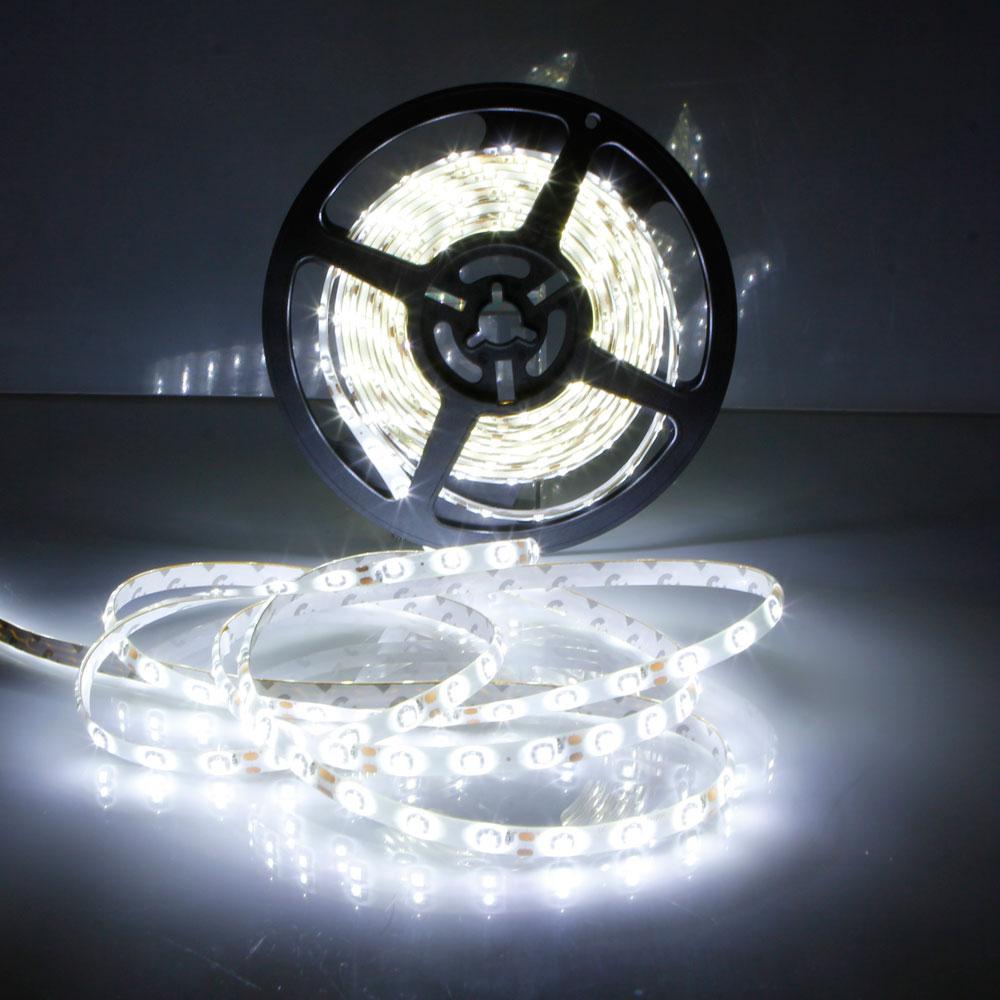 5M 12V Waterproof 300 LED Car Light Strip 3528SMD String Ribbon Roll Cool White