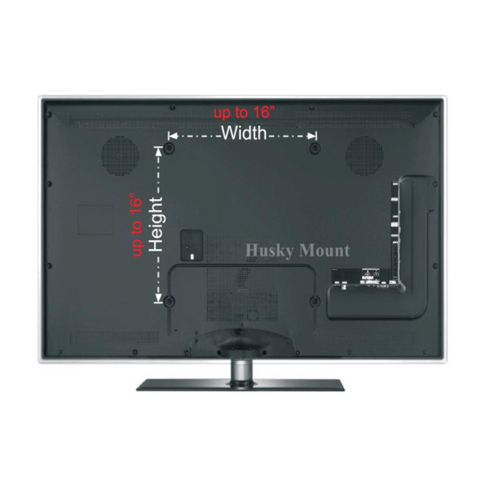 full motion tv wall mount swivel bracket 32 40 47 50 inch led lcd flat screen ebay. Black Bedroom Furniture Sets. Home Design Ideas