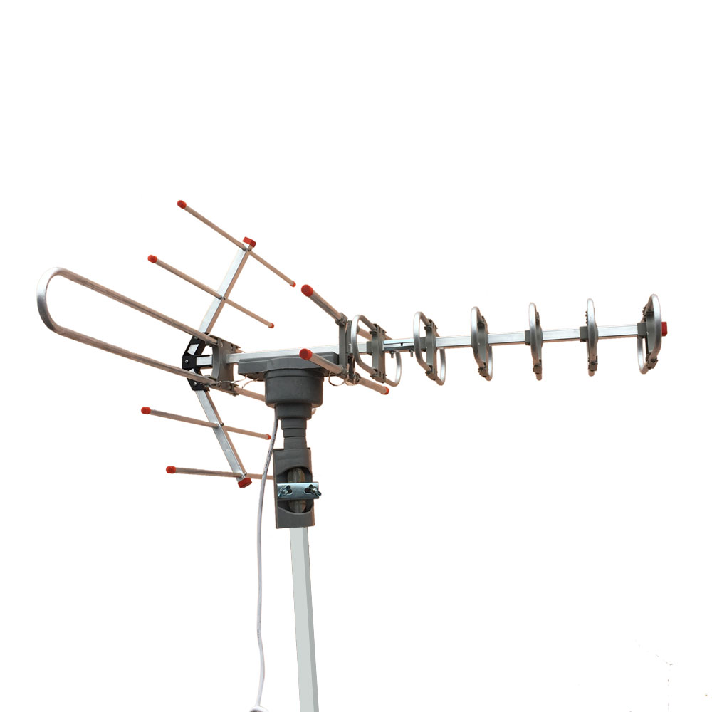 Outdoor amplified antenna digital hd tv 150 mile 360 rotor - Antena tv exterior ...