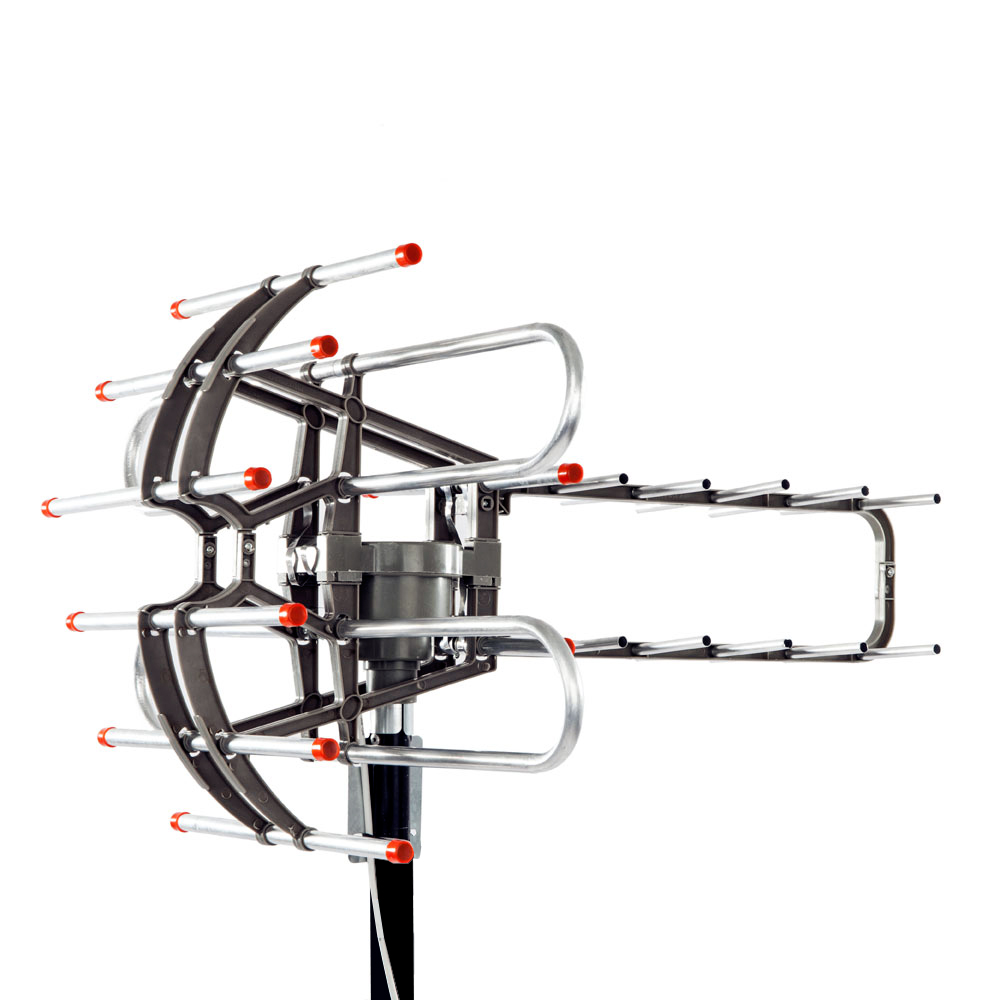 hdtv outdoor amplified antenna digital hd tv 150 mile 360