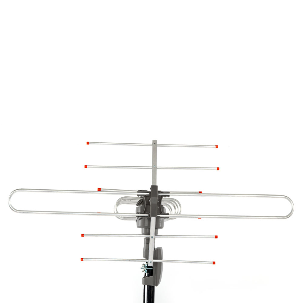Leadzm outdoor amplified antenna hd tv 150 mile 360 rotor for Hdtv antenna template