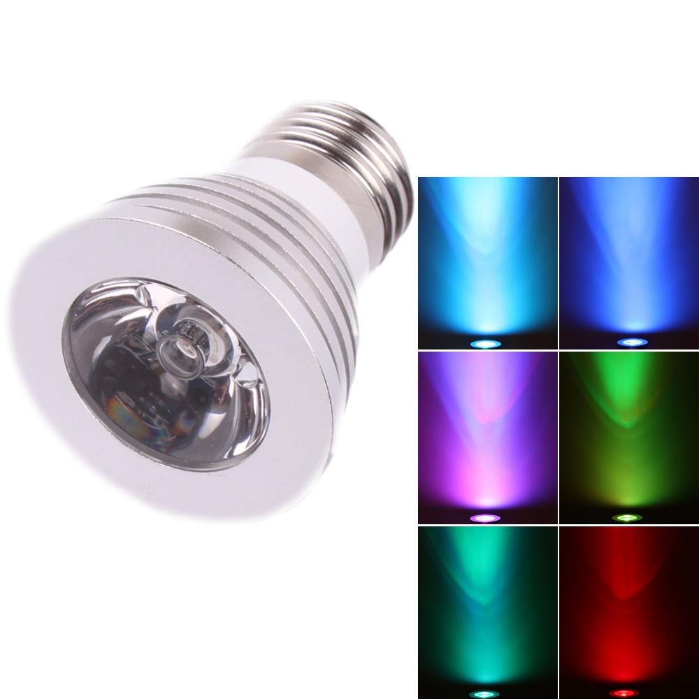New E27 3w Led Rgb Magic Bulb 16 Color Changing Spotlight