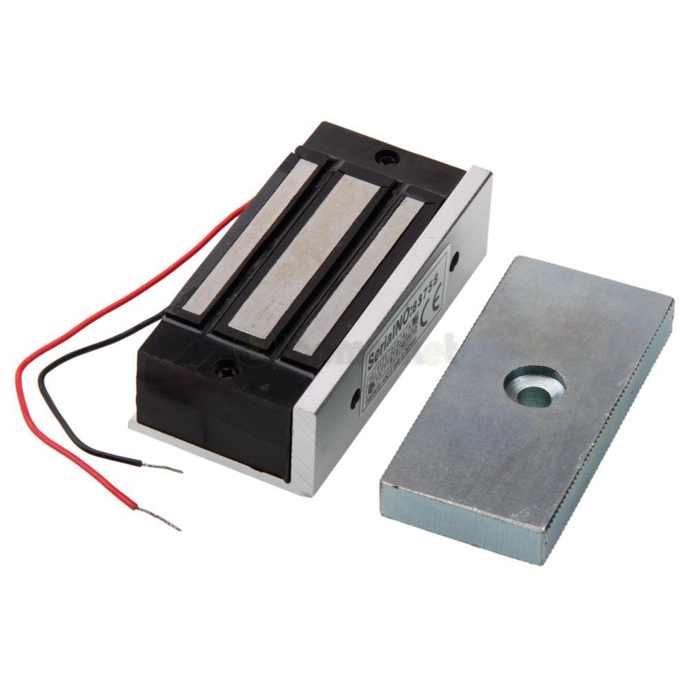 12v electromagnetic magnetic door lock 60kg holding force. Black Bedroom Furniture Sets. Home Design Ideas