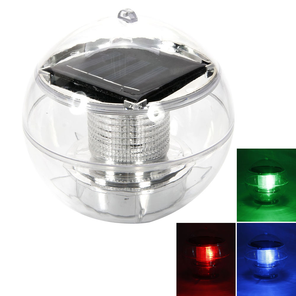 Beautiful Solar Floating Pond Rotate Colorful Lamp Led