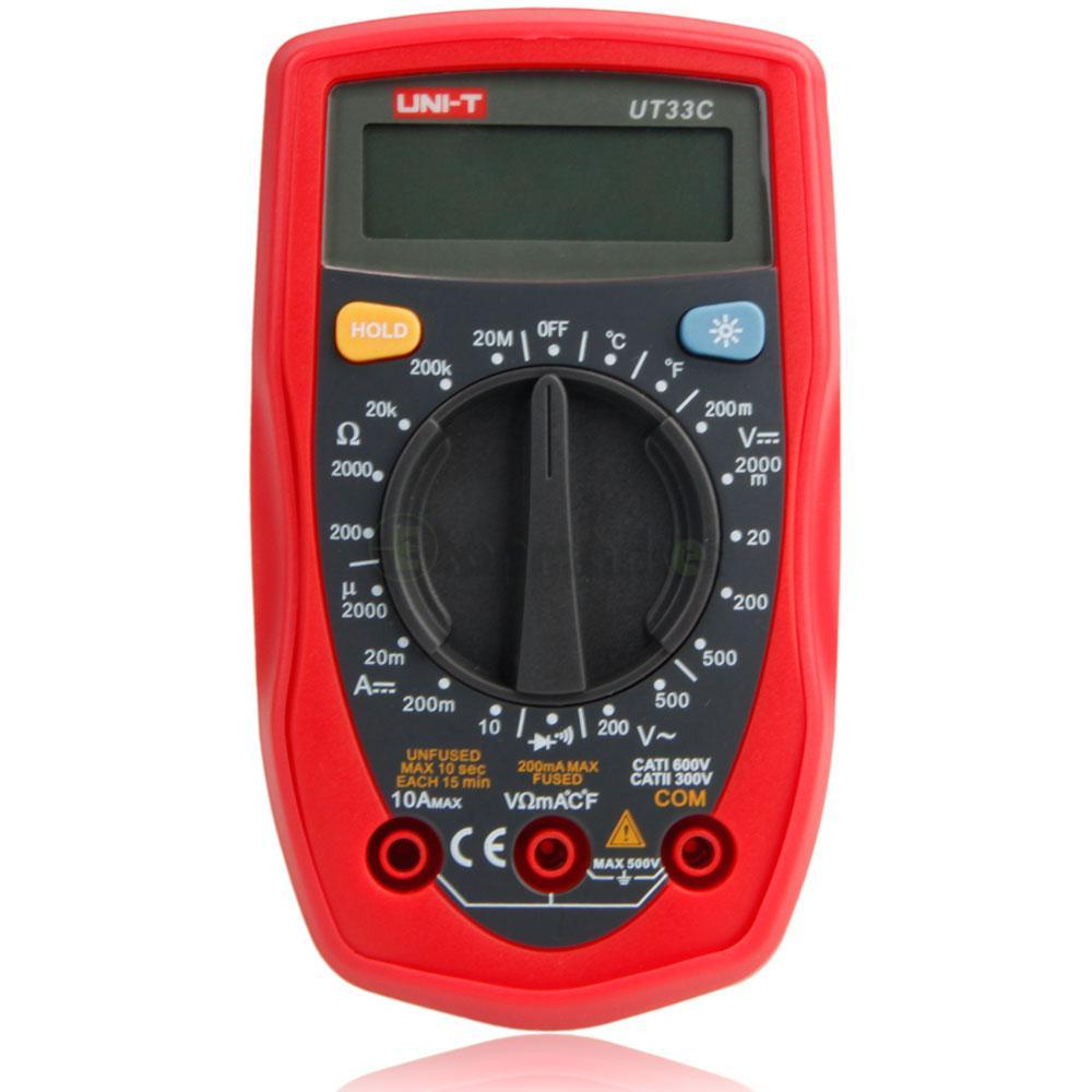 Hand Held Ohmmeter : Uni t ut c digital multimeter handheld ac dc volt ohm