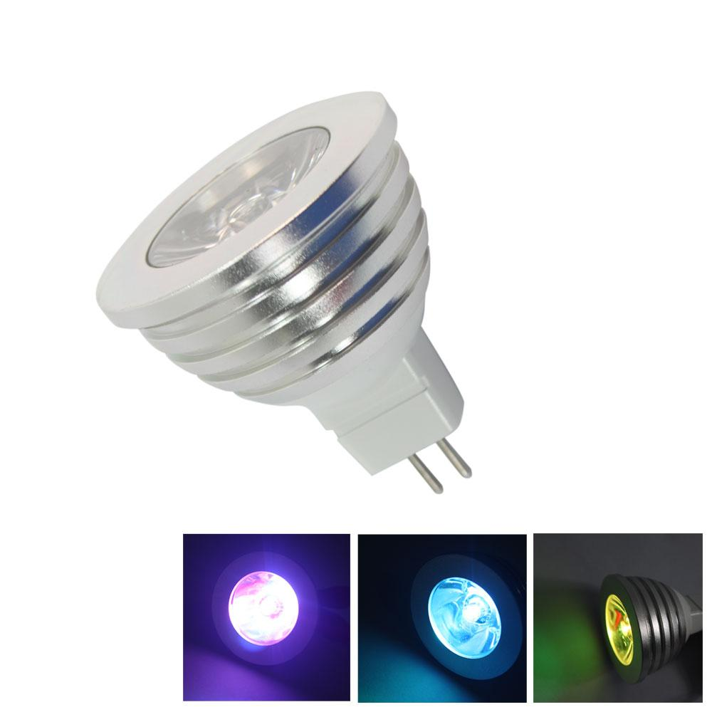 10x remote control rgb led spot light bulb mr16 gu5 3 12v color changing ebay. Black Bedroom Furniture Sets. Home Design Ideas