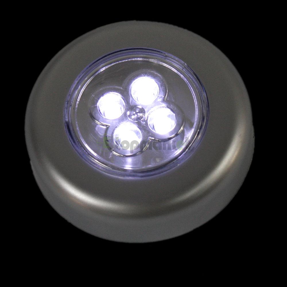 lot5 mini convenient 4 led push touch tap night light. Black Bedroom Furniture Sets. Home Design Ideas